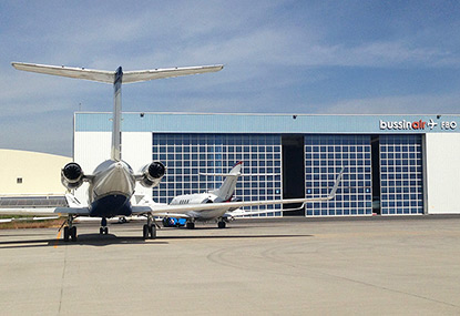 FBO in Mexico with Gulfstream III on the ramp in Queretaro MMQT airport in Mexico